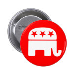 Botão republicano do elefante pins