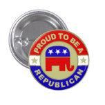 Botão republicano orgulhoso boton