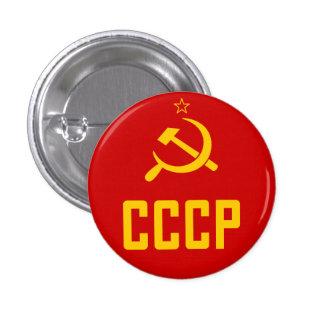 Botão retro de CCCP URSS União Soviética Bóton Redondo 2.54cm