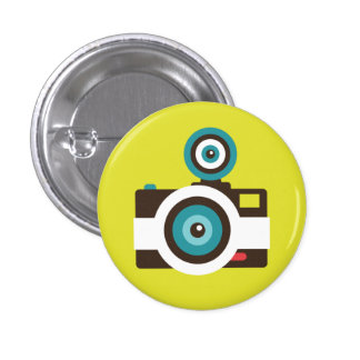 Botão retro do dom da câmera imediata bóton redondo 2.54cm