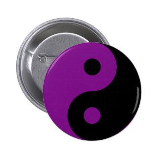 Botão roxo do símbolo de Yin Yang Bóton Redondo 5.08cm