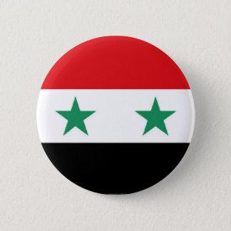 Botão sírio da bandeira bóton redondo 5.08cm