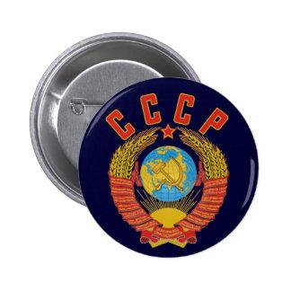 Botão soviético da brasão CCCP Bóton Redondo 5.08cm