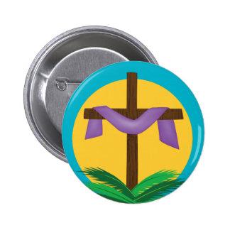 Botão transversal da páscoa bóton redondo 5.08cm