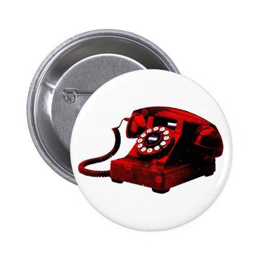 Botão velho da caixa de telefone da mesa do pop ar