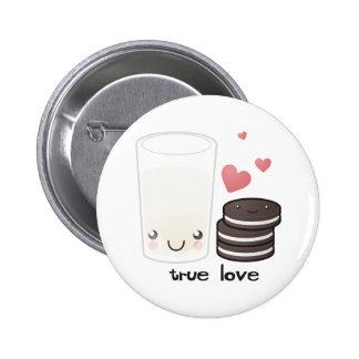 Botão verdadeiro do amor bóton redondo 5.08cm