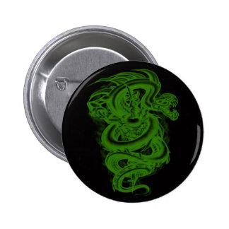 Botão verde da serpente bóton redondo 5.08cm