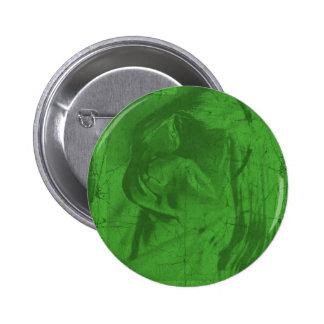Botão verde das reflexões pins