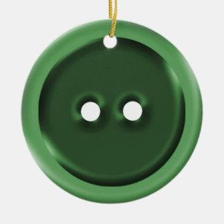Botão verde grande enfeite de natal