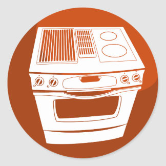 Botão vermelho do fogão adesivo