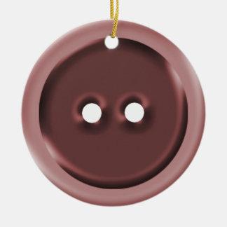 Botão vermelho grande ornamento para arvore de natal