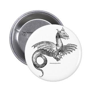 Botão voado do pino-para trás do dragão pins