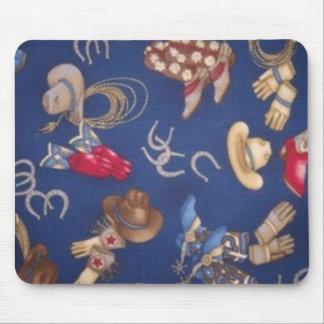 Botas & chapéus ocidentais mouse pad