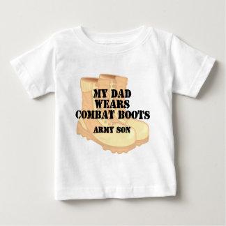 Botas de combate do deserto do pai do filho do tshirts