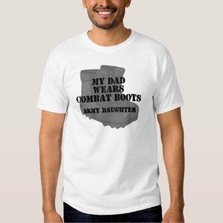 Botas de combate do pai da filha do exército t-shirt