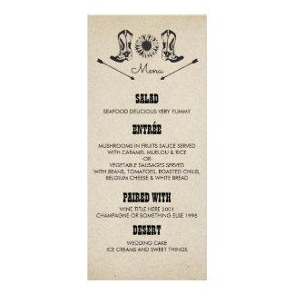 Botas de vaqueiro rústicas do país que Wedding 10.16 X 22.86cm Panfleto