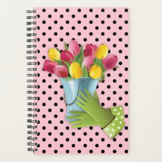 Botas do planejador das luvas do vaso de flores da