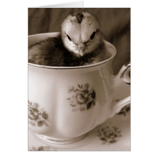 Botas em um copo de chá cartão comemorativo