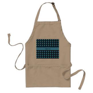 Botões azuis à moda avental
