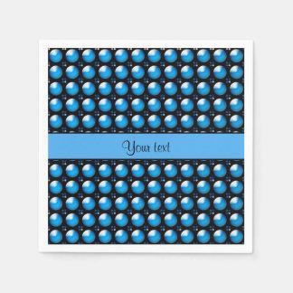Botões azuis à moda guardanapo de papel