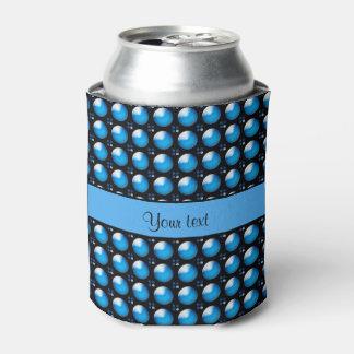 Botões azuis à moda porta-lata