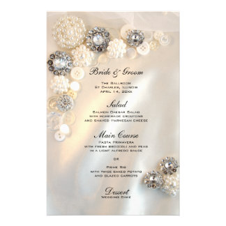 Botões brancos da pérola e do diamante que Wedding Papelaria