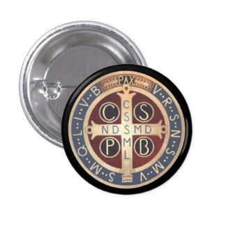 Botões da medalha do St. Benedict, todos os tamanh Bóton Redondo 2.54cm