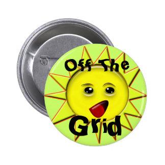 Botões das energias solares bóton redondo 5.08cm