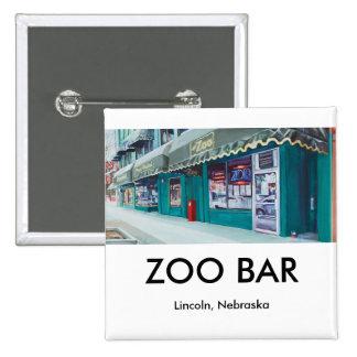 Botões do bar do jardim zoológico bóton quadrado 5.08cm