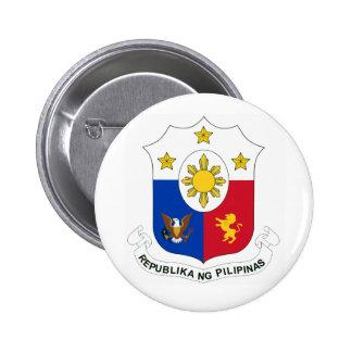 Botões do ng Pilipinas de Republika (brasão) Bóton Redondo 5.08cm