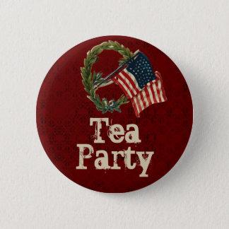Botões do tea party da bandeira americana do bóton redondo 5.08cm