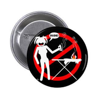 Botões e chaveiro passando do perigo bóton redondo 5.08cm