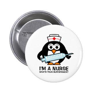 Botões engraçados dos cuidados com a enfermeira bóton redondo 5.08cm