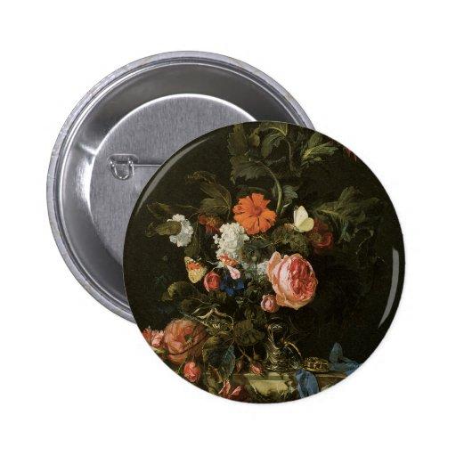 Botões florais das belas artes pins
