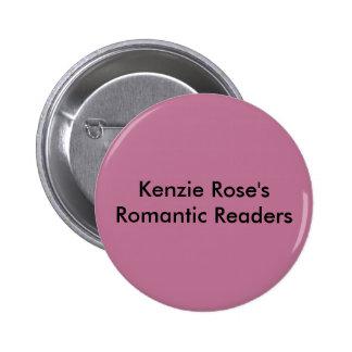 Botões românticos do leitor do rosa de Kenzie Bóton Redondo 5.08cm