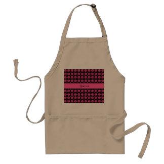 Botões Sparkly chamativos do brilho do rosa quente Avental