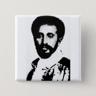 "Bóton Quadrado 5.08cm 2"" ELE Haile Selassie mim crachá"