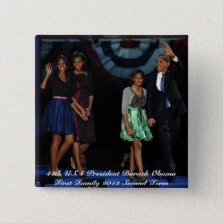 Bóton Quadrado 5.08cm 44o Botão presidencial do quadrado da família dos