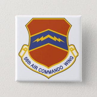 Bóton Quadrado 5.08cm 56th Asa do comando do ar (ACW)