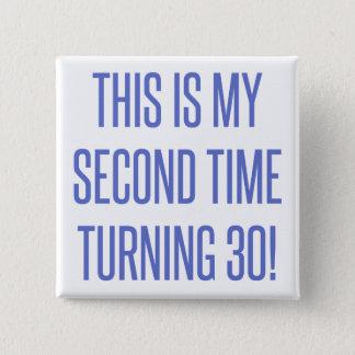 Bóton Quadrado 5.08cm 60th Presente da mordaça do aniversário