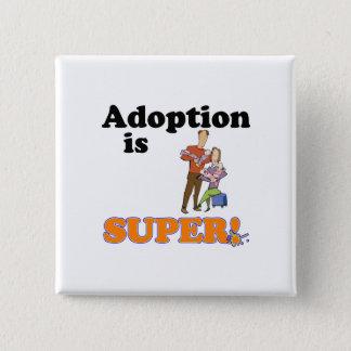 Bóton Quadrado 5.08cm a adopção é super