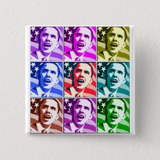 Bóton Quadrado 5.08cm A América nova, presidente Barack Obama .ized