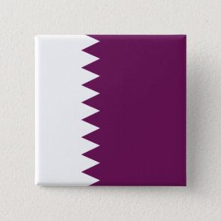 Bóton Quadrado 5.08cm A bandeira abstrata de Qatar, Qatari colore o