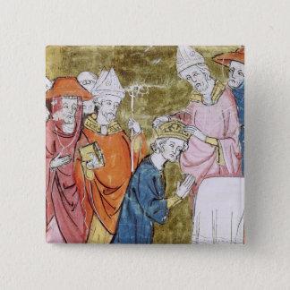 Bóton Quadrado 5.08cm A coroação do imperador Charlemagne