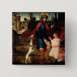 Bóton Quadrado 5.08cm A cura do santo Roch