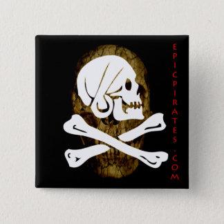 Bóton Quadrado 5.08cm A epopeia pirateia a bandeira #9