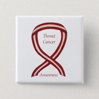 Bóton Quadrado 5.08cm A fita da consciência do cancer de garganta listra