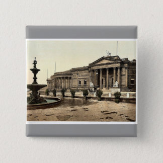 Bóton Quadrado 5.08cm A galeria de arte e o museu, rar de Liverpool,
