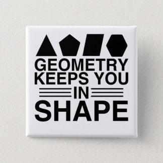 Bóton Quadrado 5.08cm A geometria mantem-no na piada da chalaça da