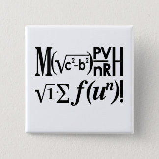 Bóton Quadrado 5.08cm A matemática é divertimento!